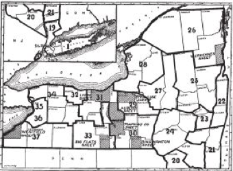 Soil map of New York State by County